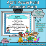 April Calendar Math - in PowerPoint - use with or without