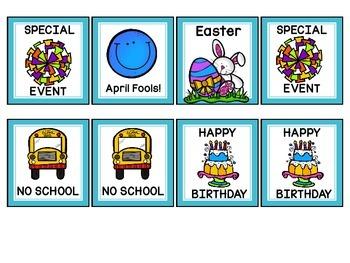 April Calendar Number