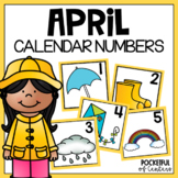 April Calendar Numbers #kinderfriends