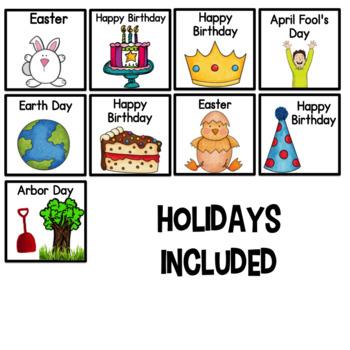 April Calendar Numbers