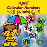 April Calendar Numbers (6 sets) 1-31