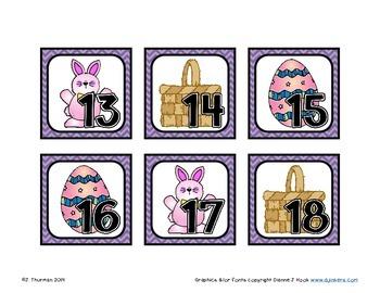 April Calendar Numbers ABCC Pattern