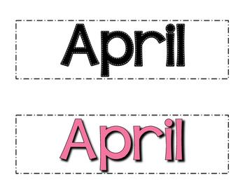 April Calendar Numbers- Melonheadz Style