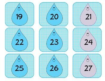 April Calendar Numbers Set