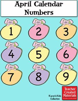 April Calendar Numbers by Karen's Kids (Digital Download)