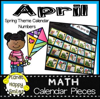 April Calendar Numbers or Math Station Number Cards