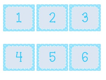 April Calendar Numbers~Calendar Numbers for the Month of April