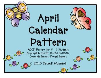 April Calendar Pattern