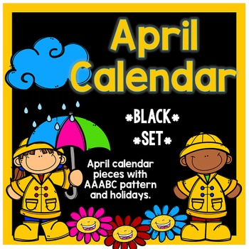 April Calendar Pieces - Black Set