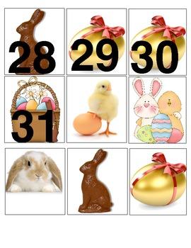 April Calendar Squares and Math Center Pieces