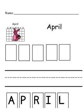 April Calendar Vocabulary Builder - ABA/Autism/Special Needs/Self Contained