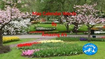 May Calendar Words