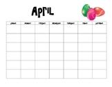 April Calendar and Activities