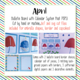 April Calendar and Bulletin Board set that pops with print