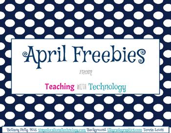 April Calendar and Printable Pack
