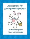 April Center Work for Kindergarten~Mini Pack