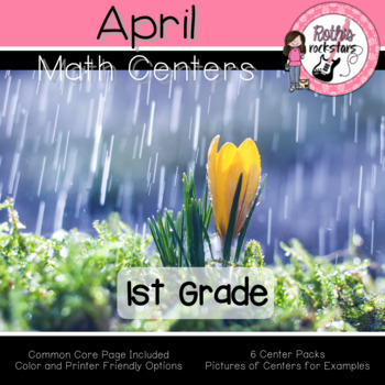 April Centers - 1st Grade - Math