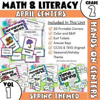 April Centers--2nd Grade Math and ELA