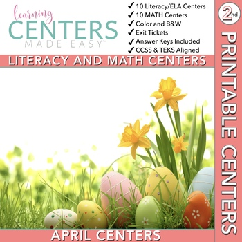 April Centers--2nd Grade Math and ELA