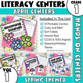 April Centers--First Grade ELA