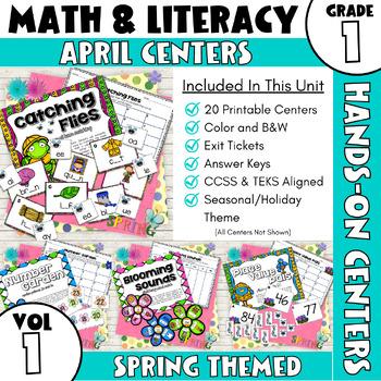 April Centers--First Grade ELA and MATH