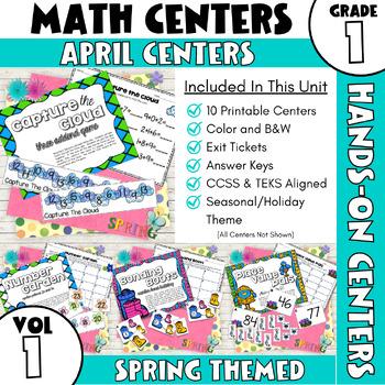 April Centers--First Grade MATH