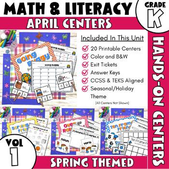April Centers--Kindergarten Math and ELA