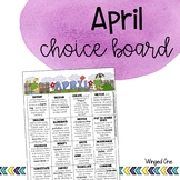 April Early Finishers: Choice Board