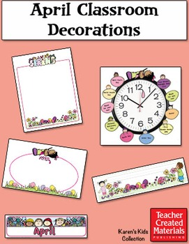 April Classroom Decorations by Karen's Kids (Digital Download)