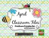 Preschool Pre-K Kindergarten April Classroom Teacher Resources