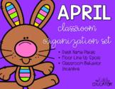 April Classroom Organization Set