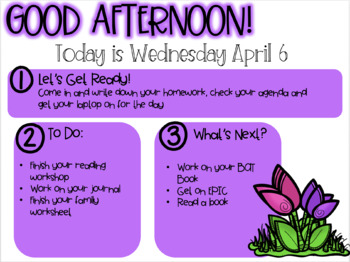 April Classroom Slides EDITABLE