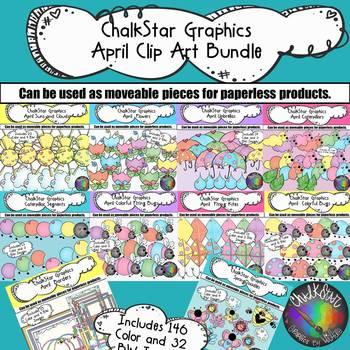 April Clip Art Bundle –Chalkstar Graphics