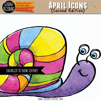April Clip Art {Second Edition}