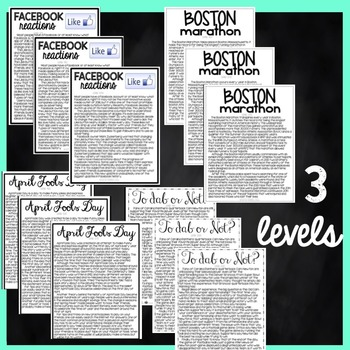 Reading Comprehension Passages and Questions - April