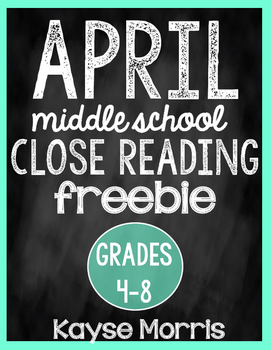 Close Reading - April FREE