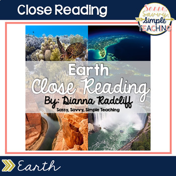 Close Reading: Earth {Standards Based}