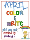 April Color & Write (Writing Journal for K-2)
