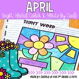 April Color and Write by Code