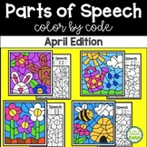April Color by Code—Parts of Speech