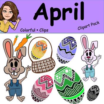 April - Colorful Clips