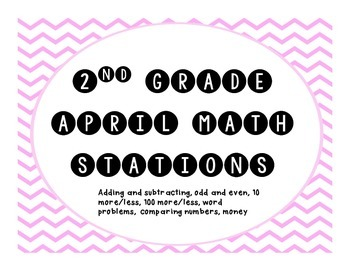 April Common Core 2nd Grade Math Stations