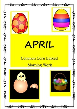 April Common Core Morning Work with Literacy and Math for Grade 2