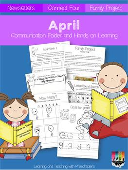 April Communication Folder and Homework Packet