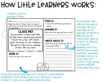 April Comprehension for Little Learners