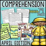 Reading Comprehension Passages & Questions: APRIL EDITION