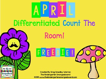 April Count The Room FREEBIE!  Counting to 25!