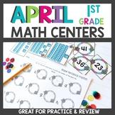 First Grade Math Centers April