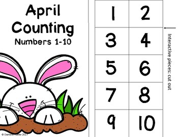 April Counting Adapted Book