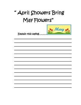 April Creative Writing Packet